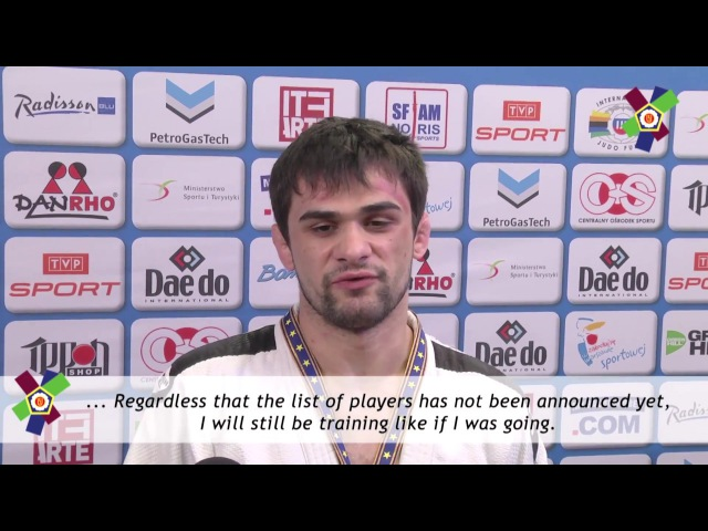 JudoWarsaw2017 Interview with Alan KHUBETSOV -81kg