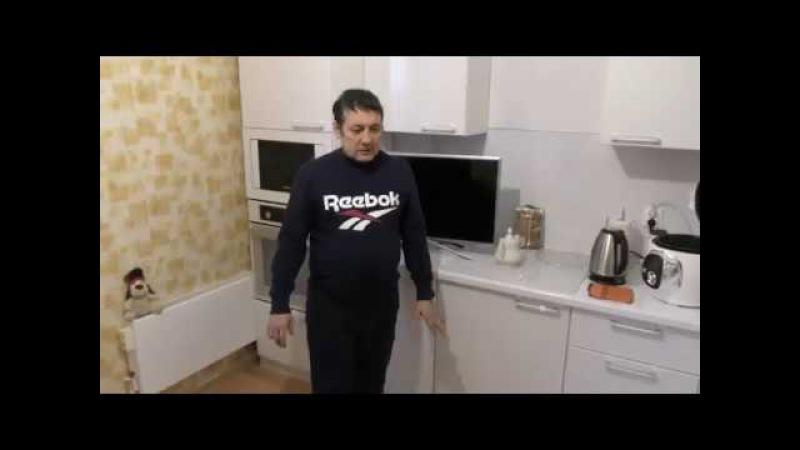 Белая Кухня.Люберцы, Встроенный холодильник.