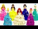 Куклы Принцессы Диснея Шикарные Наряды из Пластилина Плей До Одежда для кукол ...