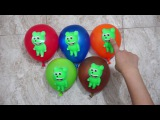 Faces Wet Balloons Compilation Mega Gummy Bear - Finger Family Nursery Rhyme Learn Colours Songs