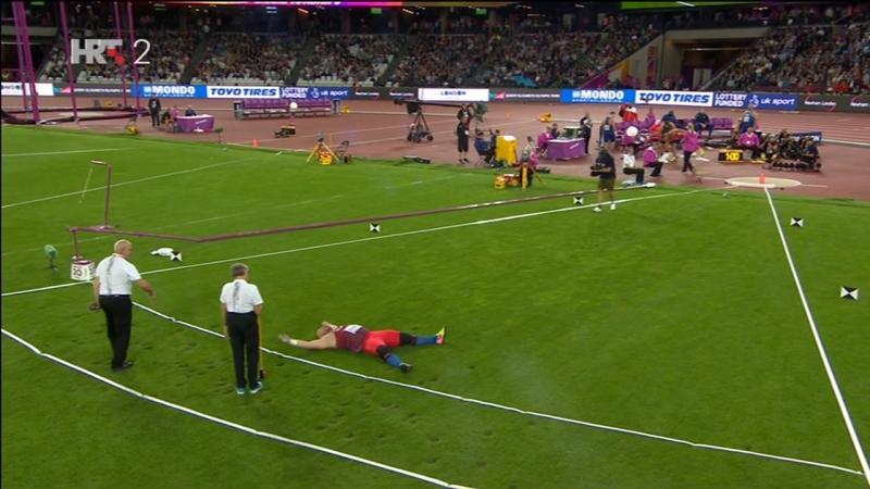 Stipe Zunic - Slavlje nakon osvajanja bronce na SAP u Londonu (kugla, 21.46), 06.08.2017. HD