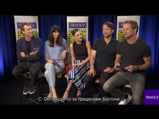 The Cast of Outlander Recite Their Lines in American Accents (rus_sub)