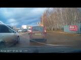 Авария на перекрёстке улиц Комарова и Днепровская.