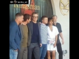 Kingsman The Golden Circle cast on Hard Rock Hotel presentation