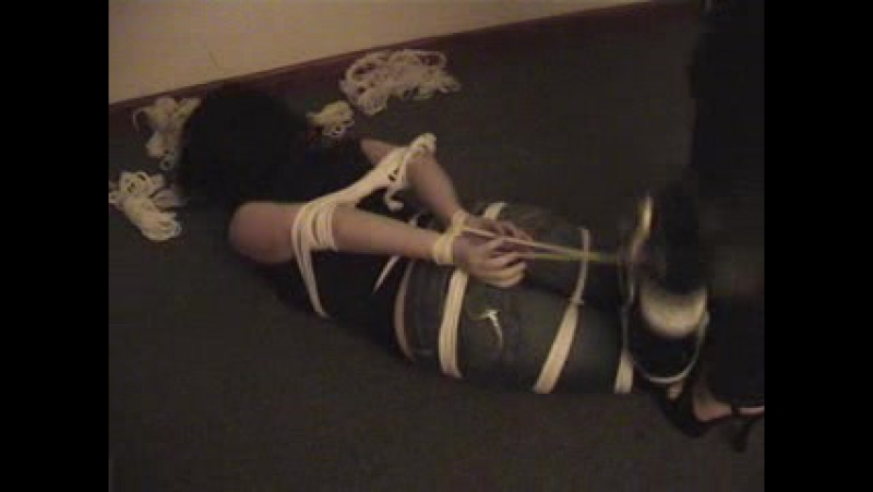 Layla_hogtied_Janine_and_spanks_her_fit_ass