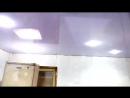Вид после монтажа натяжного потолка