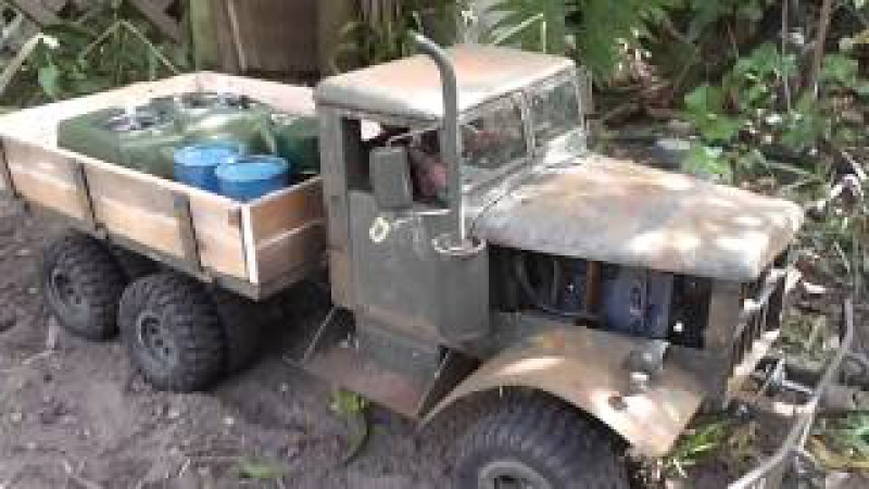 Project: Fatbetty - Teaser Video and Show 'n Tell. Home made steel RC army truck.