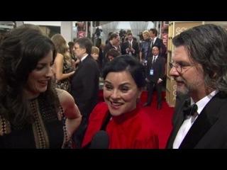Outlander Cast HFPA Red Carpet Interview - Golden Globes 2016