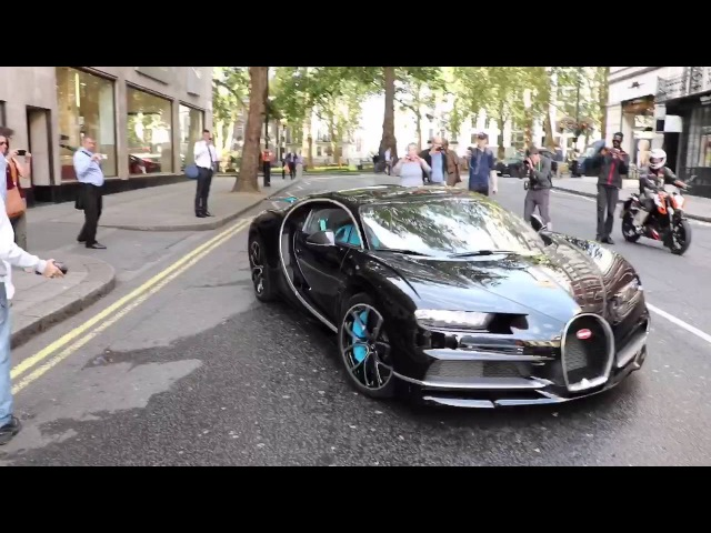 Bugatti Chiron in London - Startup - Loud Revs !