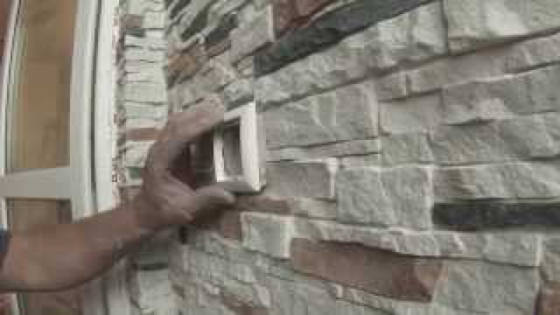 12. Камень розетки-выключатели на кривую стену
