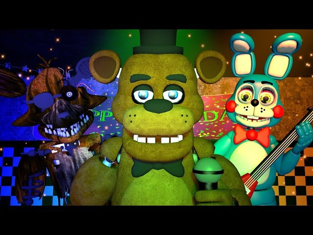 Five Nights at Freddy's 1, 2 3 Music (FNAF SFM 4K)