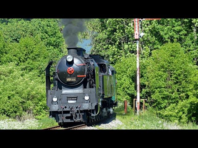 Postřižinský expres 2017 s parní lokomotivou 464 008