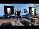 Алла Владимировна, 75 кг.толчок с груди