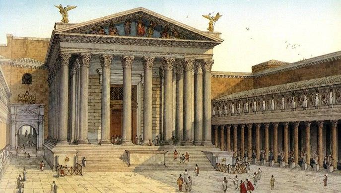 рим форум храм марса руины