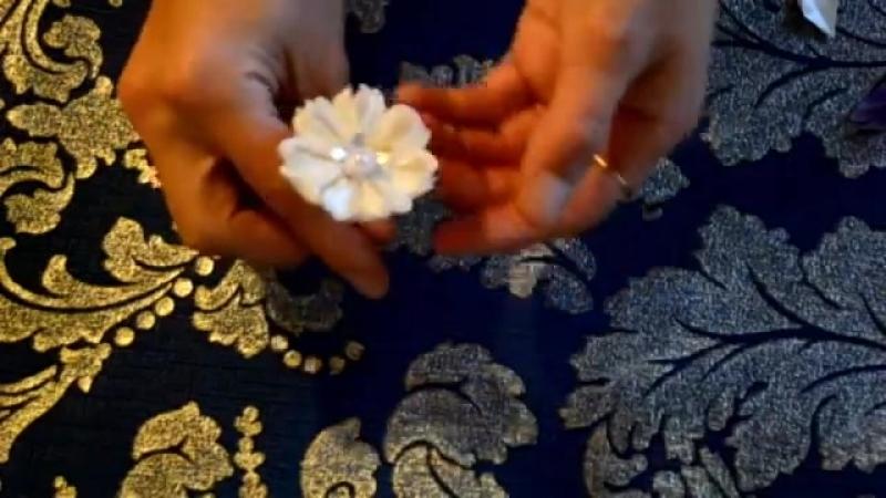 Красивые шпильки своими руками_Лепесток Крылья бабочки-3_Hairpin kanzashi