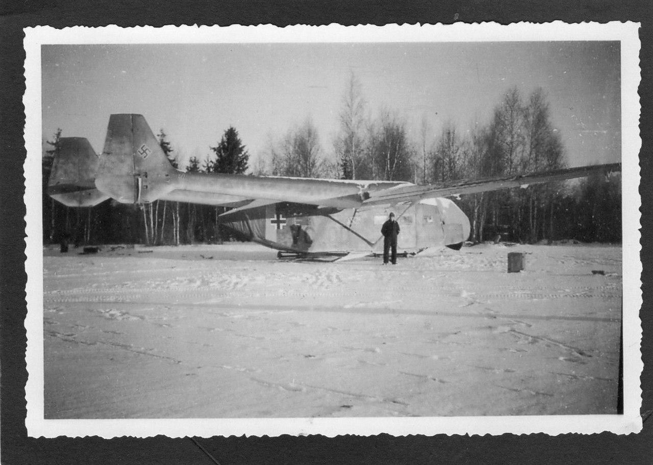 Транспортный планер Гота Go 242 в снегах России