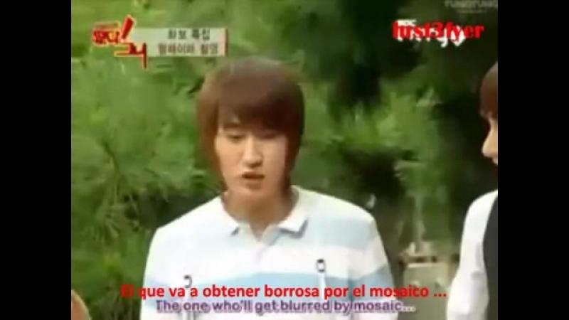 Leeteuk y Yesung atacados por orangután (Sub. Esp-Ing)