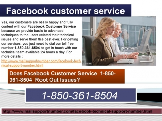 7. Get Technical Help By Facebook Customer Service 1-850-361-8504 Instantly.