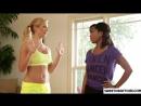 lesbians kiss _ black and white (yoga teacher)