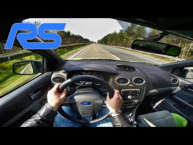 Ford Focus RS MK2 426HP ACCELERATION TOP SPEED Autobahn POV Test Drive
