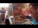 Букет на пианино, натюрморт, Художник Игорь Сахаров полный видео урок для начинающих