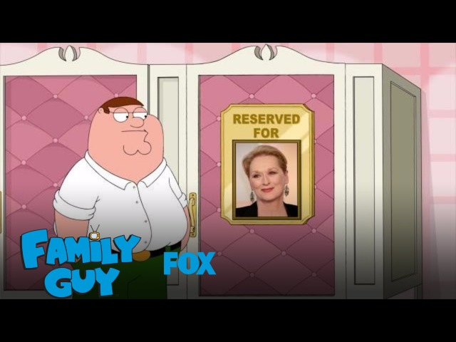 Peter Uses Meryl Streep's Restroom | Season 15 Ep. 2 | FAMILY GUY