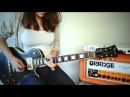Laura Cox Jamming on my Orange Rockerverb 50 MKIII