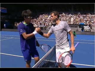 Grigor Dimitrov vs. Hyeon Chung 1-6, 6-4, 6-4, 6-4 Part 1 Australian Open (R64) 19.01.2017.