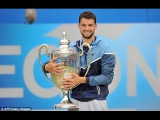 Grigor Dimitrov vs. Feliciano Lopez 6-7(8), 7-6(1), 7-6(6) London Queen's Club Final 15.06.2014.