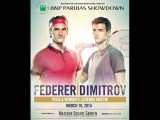 Grigor Dimitrov vs. Roger Federer 6-2, 1-6, 7-5 BNP Exhibition Match World Tennis Day 10.03.2015.
