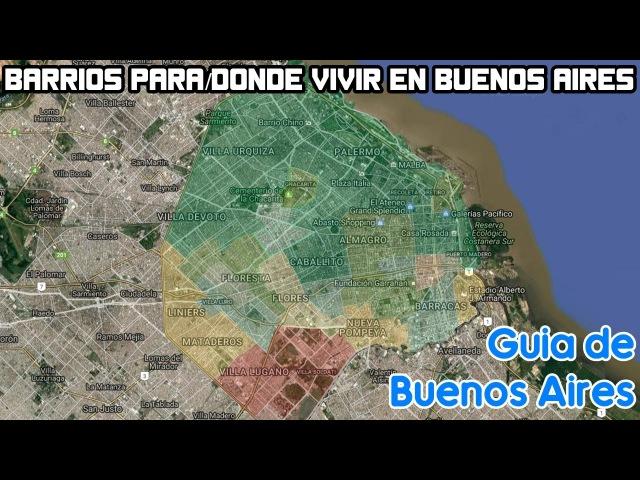 Barrios para/donde vivir en Buenos Aires (Si no eres Argentino)