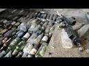 Заливка стяжки пола с стеклянными бутылкамиИз райцентра в деревню