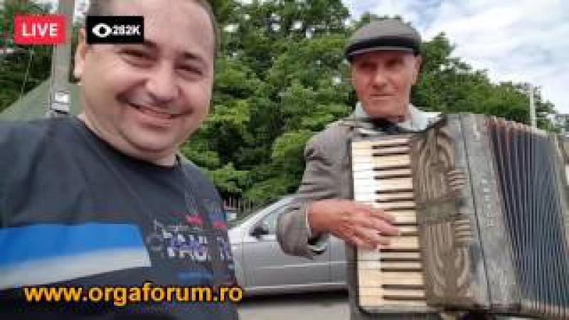 Nenea Vladimir (70 ani) acordeonist canta frumos la Hohner - Hanul Conache