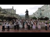 Флешмоб маленьких скрипачей Бетховен