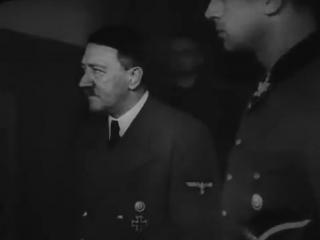 Исторические кадры : Гитлер , Гёринг , Геббельс . Немецкие конфесковоные записи новостей . За 1939 - 1945 гг.