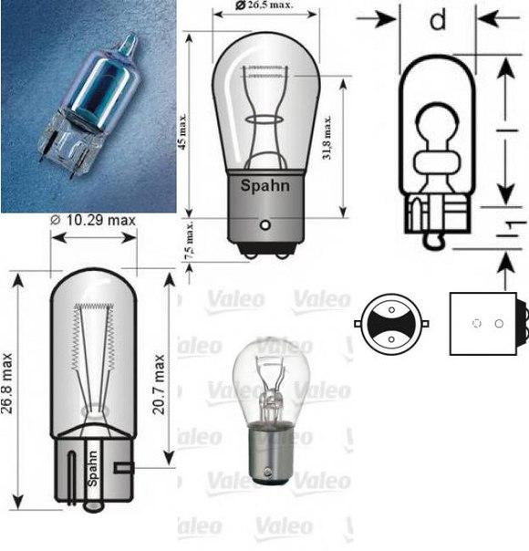 Лампа накаливания, фара заднего хода для AUDI CABRIOLET (8G7, B4)
