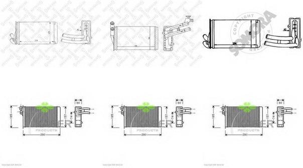 Теплообменник, отопление салона для AUDI CABRIOLET (8G7, B4)