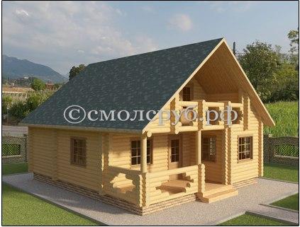 Дизайн дома из сруба в Курске