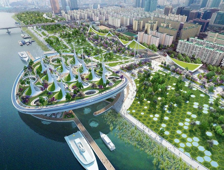 Бюро Vincent Callebaut придумало паромный экотерминал для Сеула