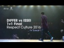 Differ vs Issei finals stance Respect Culture 2016