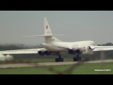 TU-160 Whiteswan - Blackjack Taxi and Takeoff from MAKS-2017