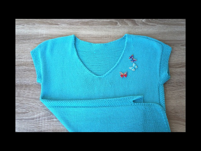 Летний топ-пуловер из хлопка практично и удобно )