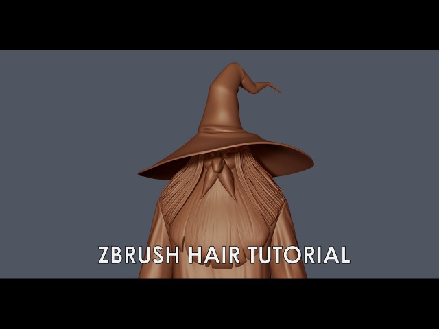 Hair tutorial in Zbrush. An alternative Curve brush method.