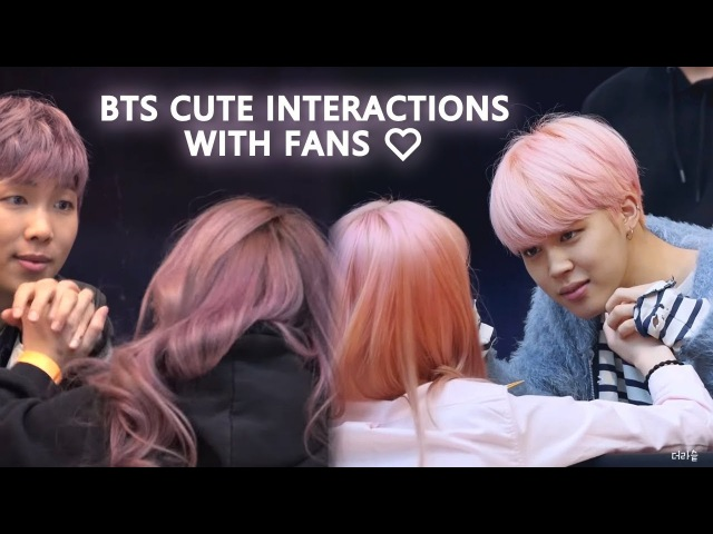 BTS - Cute Interactions with Fans During Fansigns