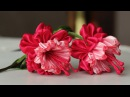 Цветок эльфов ФУКСИЯ канзаши из лент мастер класс DIY Ribbon Flower Kanzashi