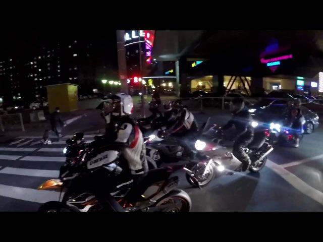 Вечерний Питер KTM SMC 690 Kawasaki ZX 10 R