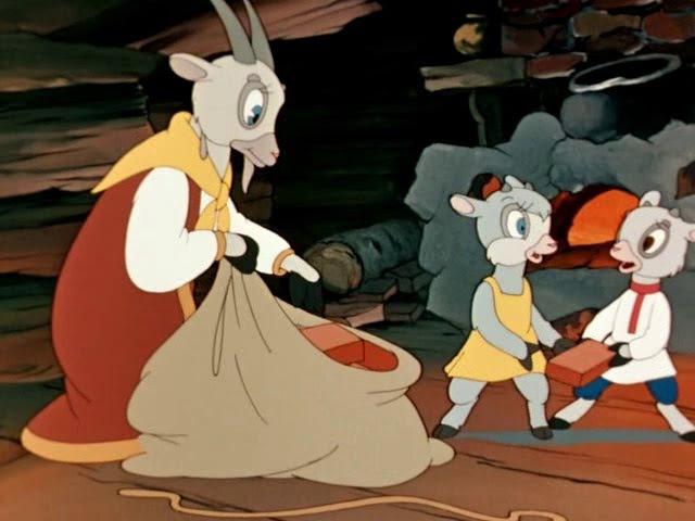 Волк и семеро козлят сказка братьев Гримм,(1957) — рисованный мультфильм Петра Но...