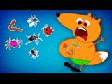 FOX FAMILY Baby Eating INSECTs &amp Doctor Performs Surgery New Episodes! Finger Family Song Nursery Rh