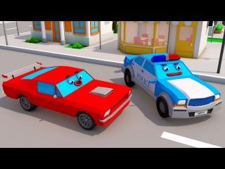 Kırmızı Yarış Arabası ve Polis arabası - Akıllı Arabalar çizgi filmi - Türkçe İzle!