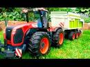 Traktor Agricultural Machiner Czerwony Traktorek Animacje Tractor For Kids